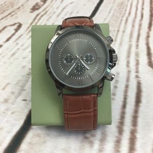 Men's Brown And Gunmetal Fashion Watch